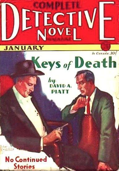 Sidney Reisenberg Original Painting for Complete Detective Novel Magazine