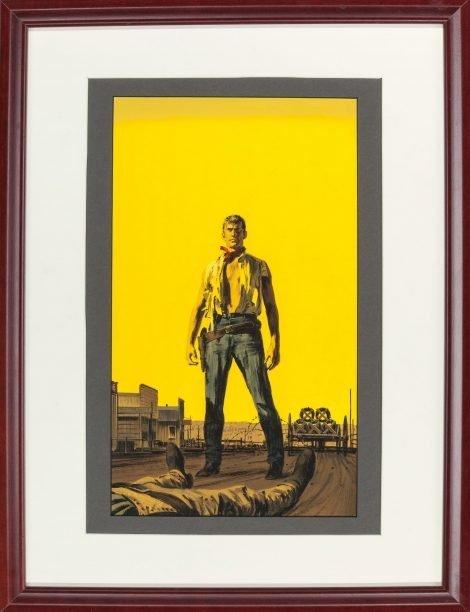 Willard Neeley Original Painting for Barbed Wire Kingdom (Bantam #1926, 1959)