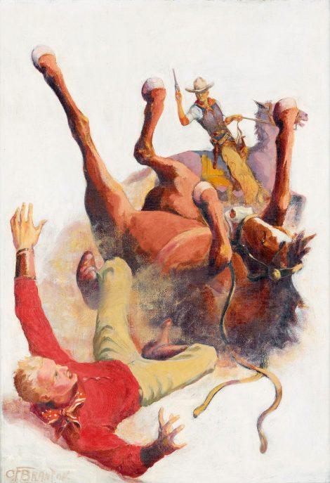 Branton Western Pulp Cover Painting